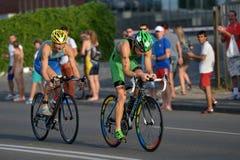 Dnepropetrovsk ETU Sprint Triathlon European Cup Stock Images
