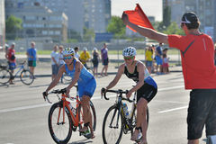 Dnepropetrovsk ETU Sprint Triathlon European Cup Royalty Free Stock Photos