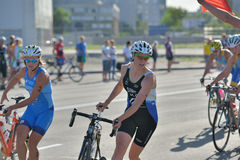 Dnepropetrovsk ETU Sprint Triathlon European Cup Royalty Free Stock Photo