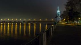 Dnepropetrovsk nachts, Zeitspanne 1 stock footage