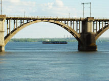 Dnepropetrovsk. Railway bridge across the Dnieper river in Dnepropetrovsk Royalty Free Stock Photos