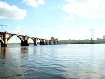 Dnepropetrovsk. Railway bridge across the Dnieper river in Dnepropetrovsk Stock Images