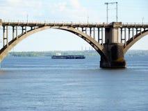 Dnepropetrovsk. Railway bridge across the Dnieper river in Dnepropetrovsk Stock Photography