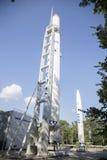 DNEPROPETROVSK, UCRANIA - 11 DE JULIO DE 2016: El cohete complejo del parque del museo en Dnepropetrovsk Fotos de archivo