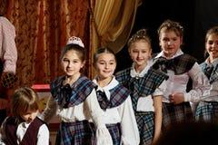 """""""Danza de las baladas de Schotish"""" Fotos de archivo libres de regalías"""