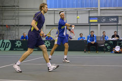 Robert Lindstedt and Johan Brunstrom Royalty Free Stock Image