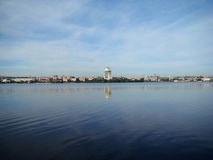 Dnepropetrovsk. View of the city of Dnepropetrovsk,the right Bank of the Dnieper river Stock Images