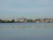 Dnepropetrovsk. View of the city of Dnepropetrovsk,the right Bank of the Dnieper river Royalty Free Stock Image
