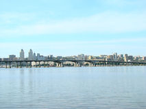 Dnepropetrovsk. View of the city of Dnepropetrovsk,the right Bank of the Dnieper river Stock Photo