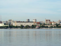 Dnepropetrovsk. View of the city of Dnepropetrovsk,the right Bank of the Dnieper river Stock Image