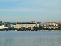 Dnepropetrovsk. View of the city of Dnepropetrovsk,the right Bank of the Dnieper river Stock Photos