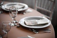 Dîner dans un restaurant Photos libres de droits