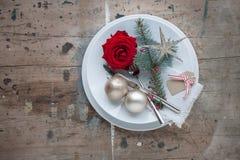 Dîner de Noël Photo libre de droits