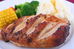 Dîner de poulet Photo libre de droits