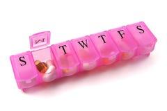 dni 2 tabletki pudełko tygodniowo Obrazy Royalty Free