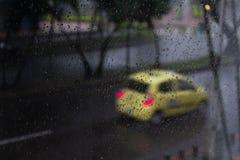 dni deszcz okno zdjęcia stock