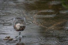 dni deszcz oszczędności obraz royalty free
