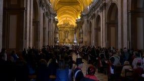 Dni Niepodległości Bicentennial świętowania gromadzą w Buenos Aires katedrze, śpiewacki chór zbiory