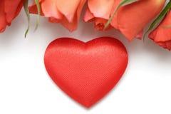 dni projektu serce valentines róż położenie Fotografia Stock