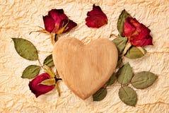 dni projektu serce valentines róż położenie Zdjęcia Stock