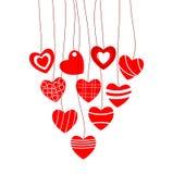 dni serc miłość jest walentynka ilustracyjny Obraz Stock