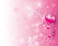 dni serc miłość jest walentynka ilustracyjny Obrazy Royalty Free