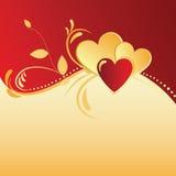 dni tła złote serce jest czerwony walentynki Obraz Royalty Free