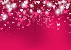 dni tła złote serce jest czerwony walentynki Zdjęcie Royalty Free