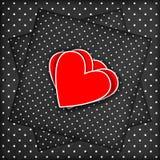 dni tła złote serce jest czerwony walentynki ilustracja wektor