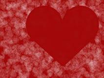 dni tła złote serce jest czerwony walentynki Fotografia Royalty Free