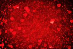 dni tła złote serce jest czerwony walentynki Obrazy Royalty Free