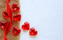 dni tła złote serce jest czerwony walentynki Obraz Stock