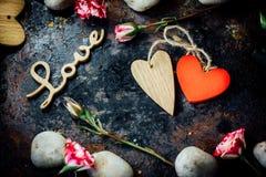 dni tła złote serce jest czerwony walentynki Zdjęcia Royalty Free