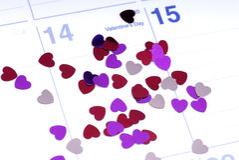dni valentines Obrazy Royalty Free