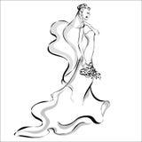 Dnia Ślubu zaproszenie z piękną narzeczoną Obraz Royalty Free