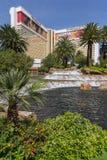 Dnia czasu widok Mirażowy hotel w Las Vegas Zdjęcia Stock