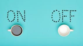 Dnia Dobrego Kawowy pastel Coloured mieszkanie Lay Konceptualna motywacja Filiżanka kawy zdjęcie royalty free