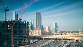 Dnia Dubai budowy terenu 4k czasu lekki upływ zbiory