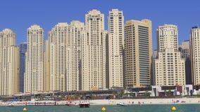 Dnia Dubai marina plaży panoramy jbr lekki blok 4k uae zdjęcie wideo