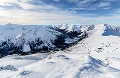 Dnia foto lód pokrywa w wysokim Tatras Zdjęcie Royalty Free