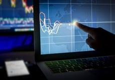 Dnia handlowa mapy w zmroku Zdjęcia Stock