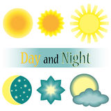 Dnia i nocy wektoru ikona Zdjęcie Stock