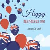 Dnia Niepodległości mieszkania kartka z pozdrowieniami Obraz Royalty Free