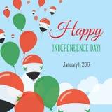 Dnia Niepodległości mieszkania kartka z pozdrowieniami Fotografia Stock