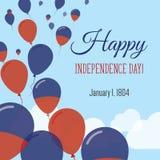 Dnia Niepodległości mieszkania kartka z pozdrowieniami Zdjęcie Stock