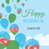 Dnia Niepodległości mieszkania kartka z pozdrowieniami Obrazy Stock