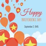 Dnia Niepodległości mieszkania kartka z pozdrowieniami Zdjęcie Royalty Free