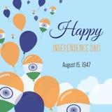 Dnia Niepodległości mieszkania kartka z pozdrowieniami Obraz Stock