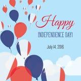 Dnia Niepodległości mieszkania kartka z pozdrowieniami Obrazy Royalty Free