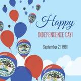 Dnia Niepodległości mieszkania kartka z pozdrowieniami Zdjęcia Royalty Free